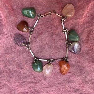 Semi precious stones multicolored bracelet